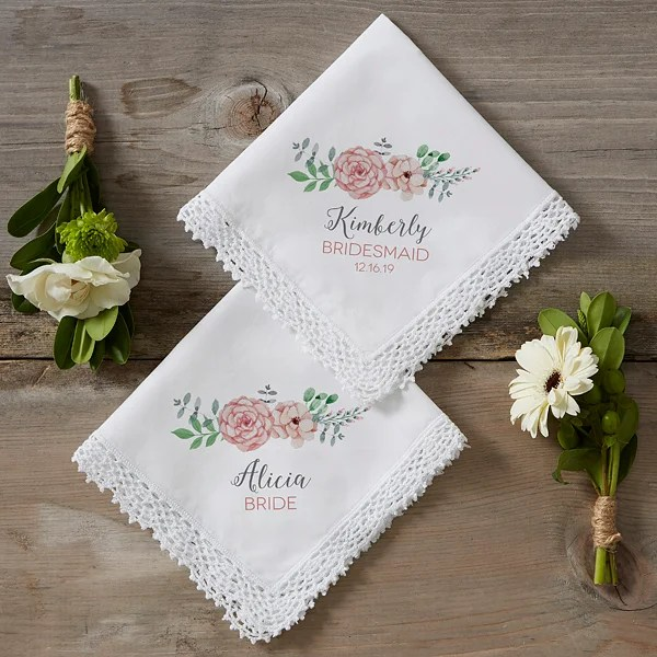 blooming bridal party personalized