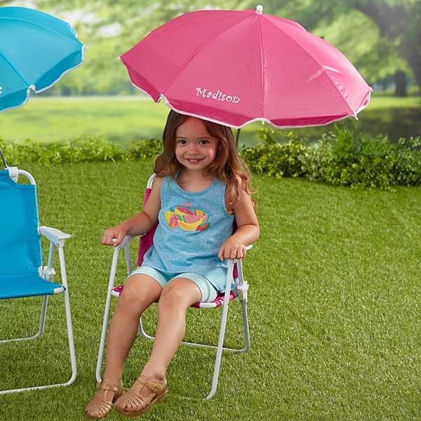 pink beach chair lazy boy executive personalized kids umbrella set 18165