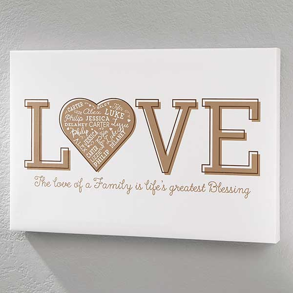 personalized 20x30 love canvas