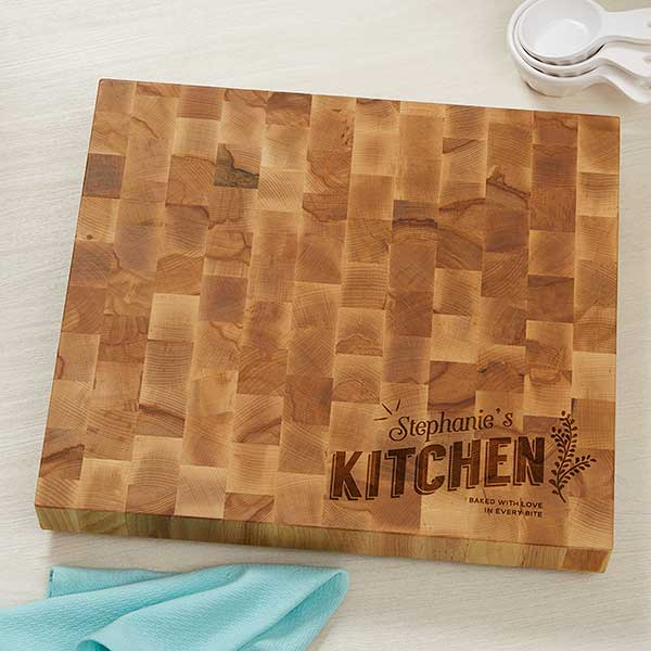 kitchen cutting boards cheap valances for personalized butcher block board her 18601