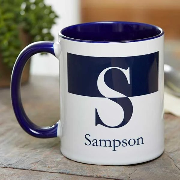 personalized initial monogram coffee