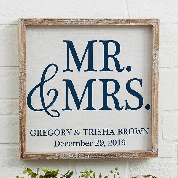 mr mrs personalized wedding