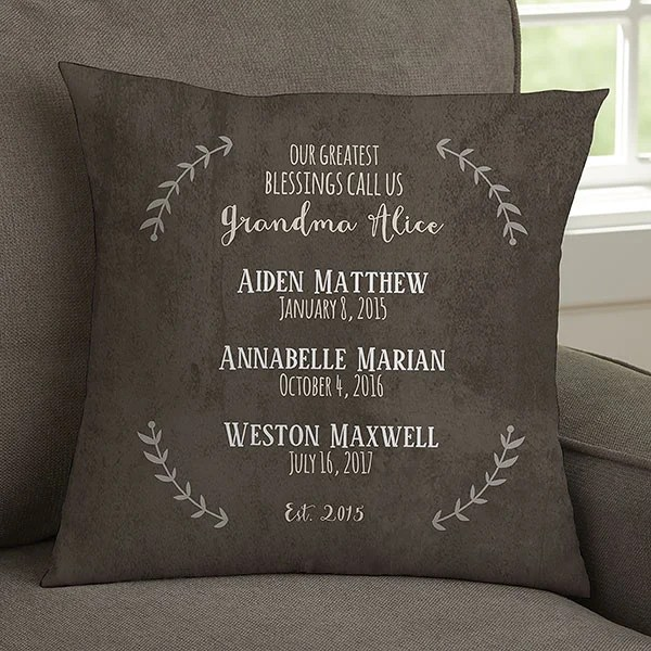 our grandchildren personalized 14 throw pillow