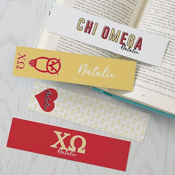 chi omega personalized paper