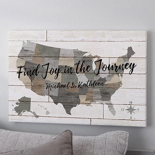 barnboard map 20x30 personalized