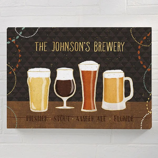 beer suds 20x30 personalized