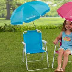 Chair With Umbrella Attached Desk Officeworks Personalized Kids Beach Set Blue 3385 B