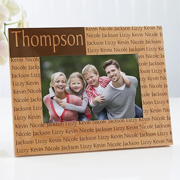 family name personalized wood