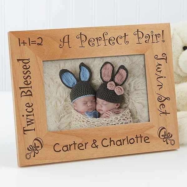 personalized twins wood picture