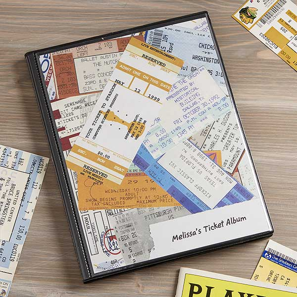 personalized ticket stub scrapbook