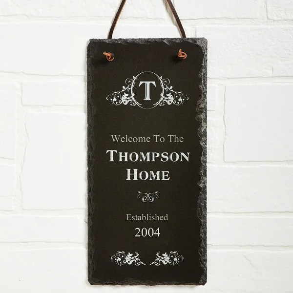 established personalized slate plaque