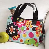 Personalized Ladies Floral Lunch Cooler - Embroidered - 7189