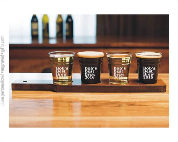 Personalized Beer Tasting Set With Serving Board