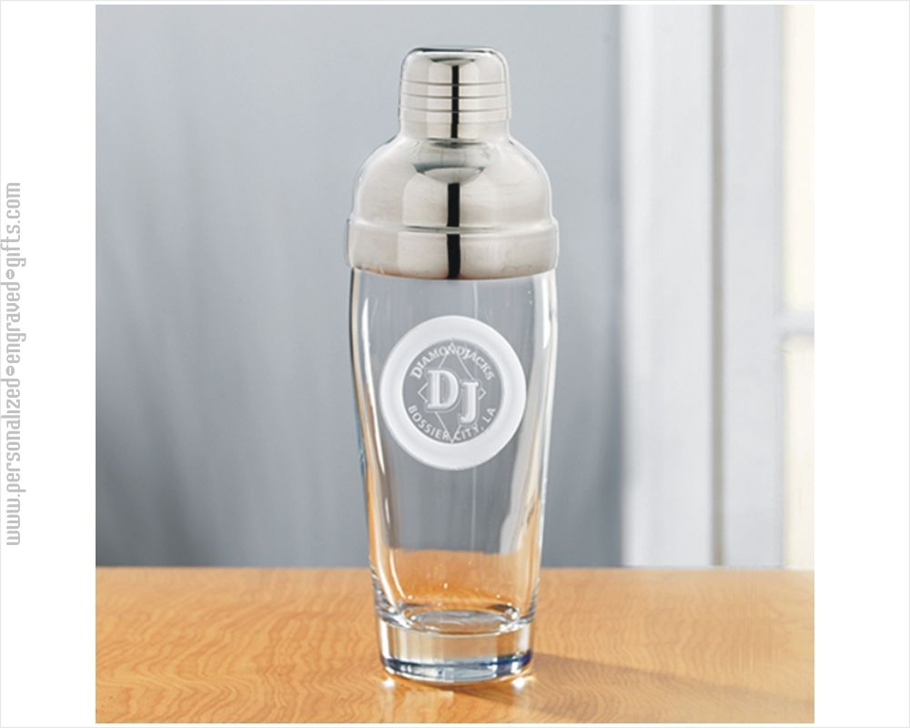 Personalized Engraved Glass Cocktail Shaker