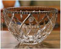 Personalized Decorative Edge Crystal Bowl - Hermes