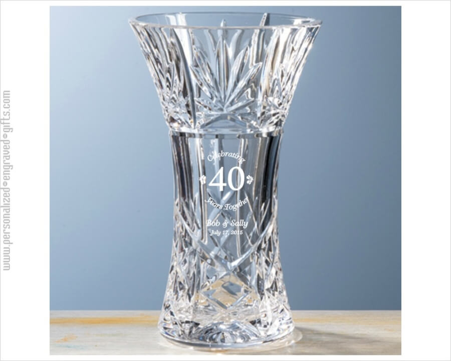 An Anniversary Gift with Flare A HandCut Crystal Vase
