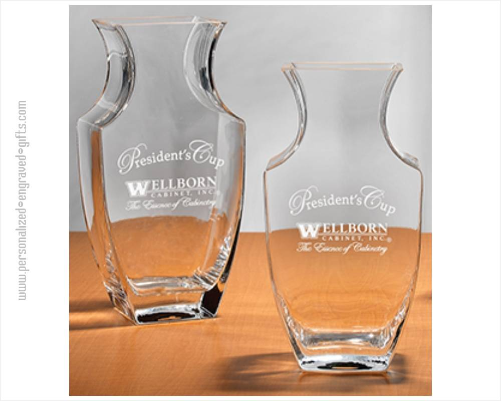 engraved crystal vases personalized