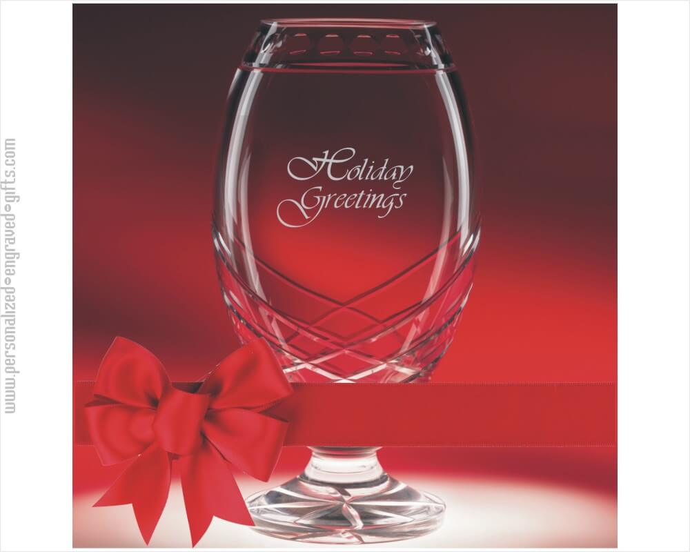 personalized vases engraved crystal
