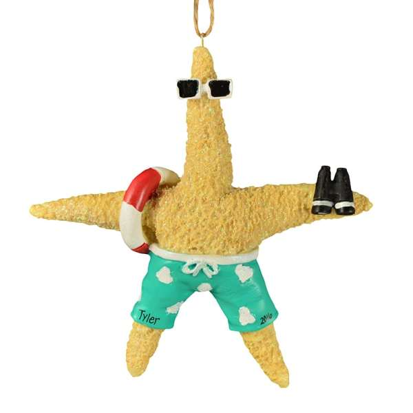 Male Starfish Wearing Swim Trunks Ornament Personalized