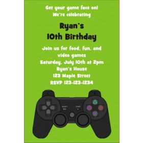 Playstation Xbox Video Game Thank You Card Personalized