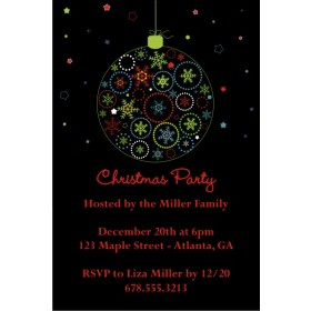 Eat Drink And Be Merry Christmas Holiday Party Invitation