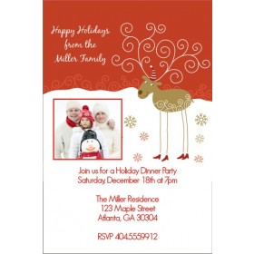Hanging Stockings Holiday Christmas Party Invitation
