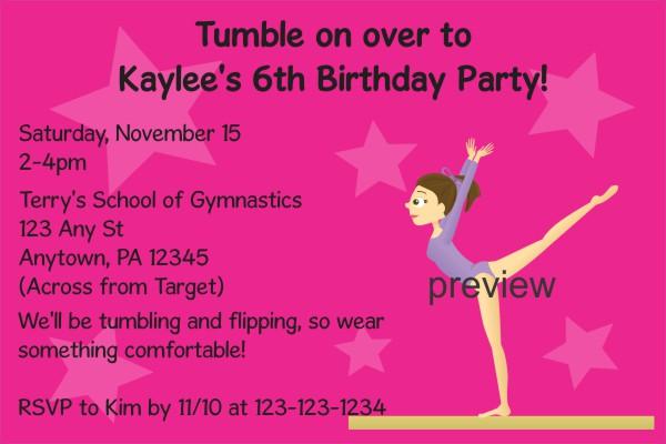 personalized party invites news gymnastics birthday party invitations personalized party invites