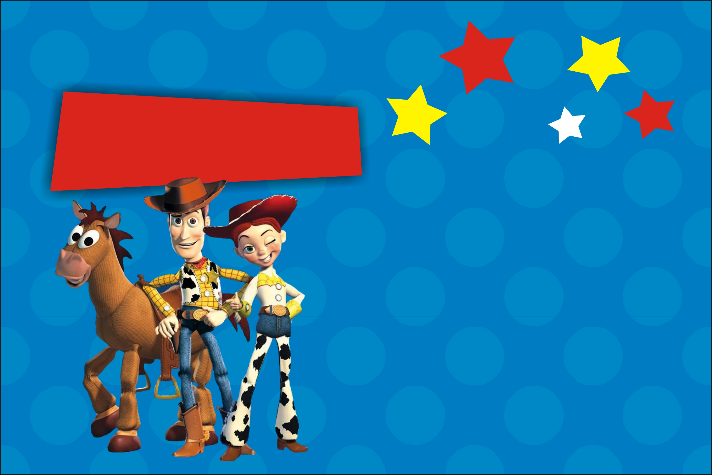 Toy Story Invitation Jessie And Woody With Optional