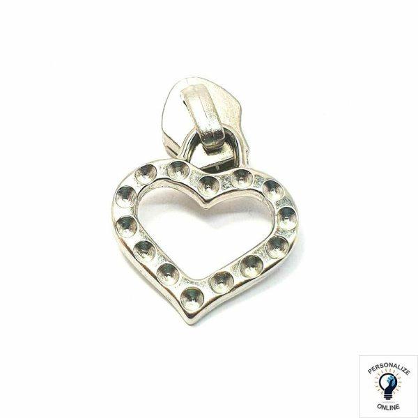 Cursor prata coração Nº 05