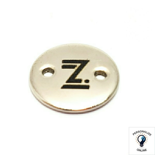 Etiqueta tag personalizada 1.5×1.5 cm de metal com furos laterais