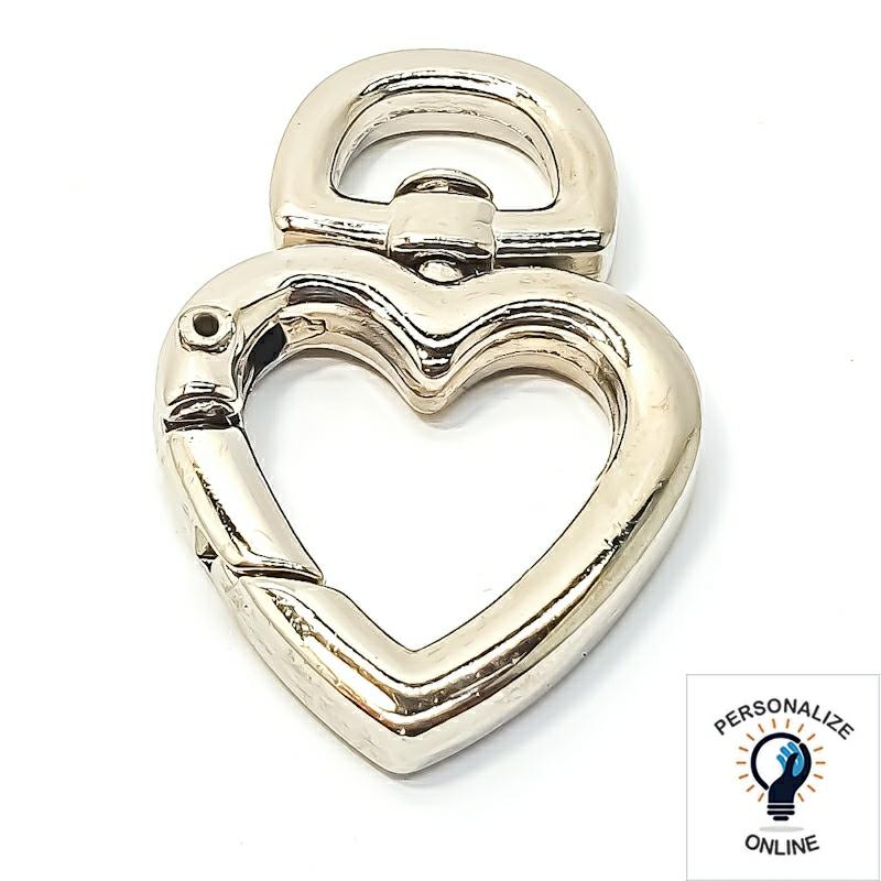 Coração mosquetão prata