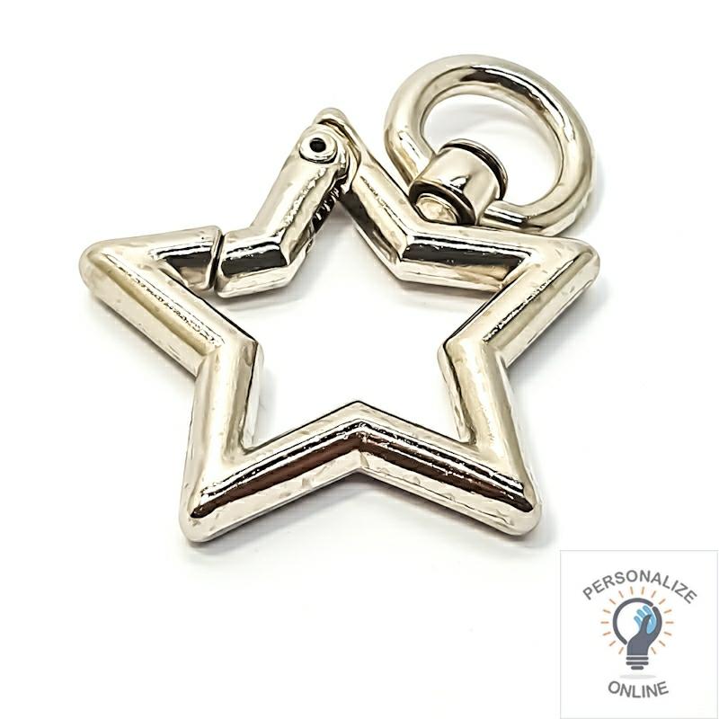 Estrela mosquetão prata