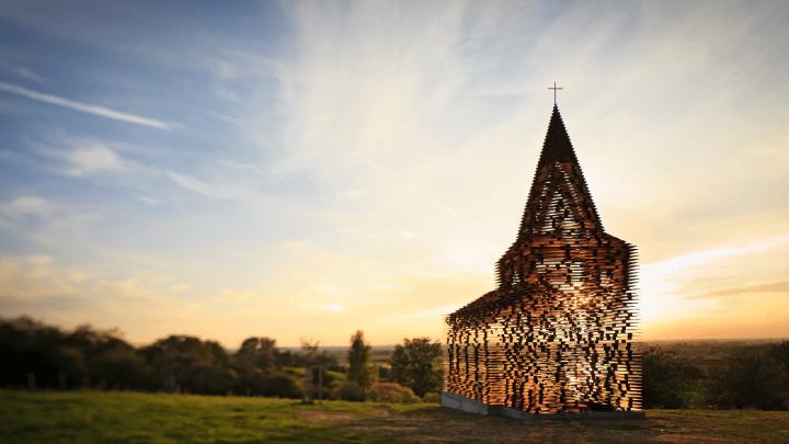 In Belgio c'è una chiesa fantasma che diventa invisibile