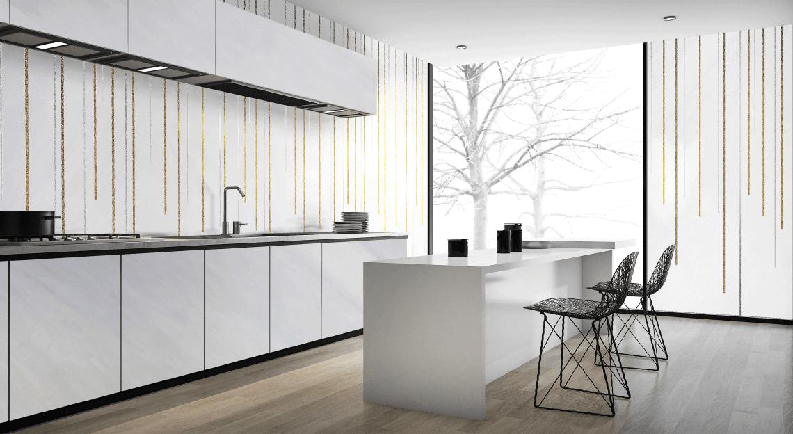 Una pioggia di luce per la cucina: Rain White di Antolini