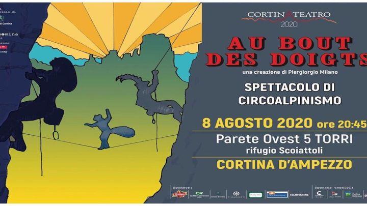 Cortina d'Ampezzo: le 5 Torri si illuminano con la magia del circoalpinismo