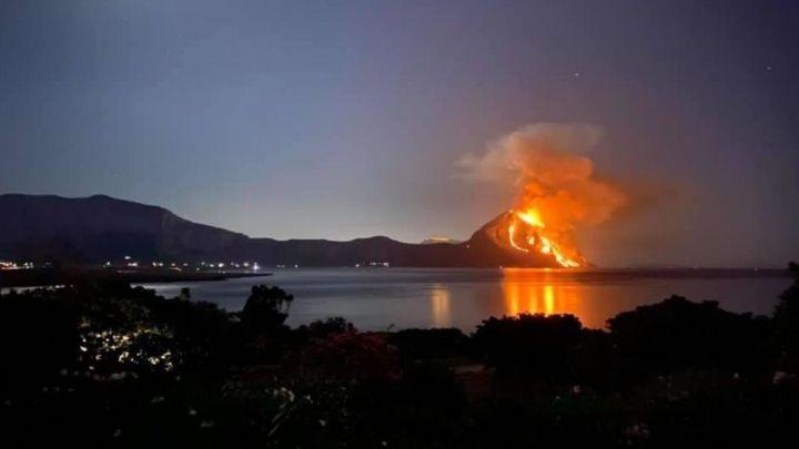 Trapani: la riserva di Monte Cofano è stata devastata da un grosso incendio