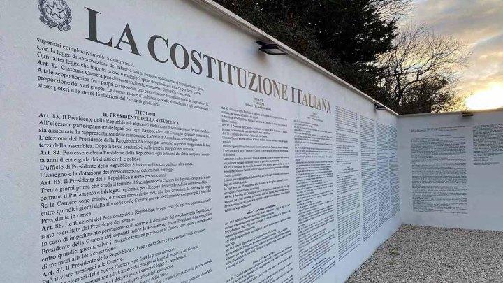 Se non si conosce la Costituzione Italiana basta andare a visitare il Comune di Aielli