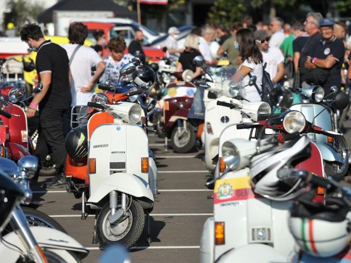 Alla 35a Biker Fest vespe lambrette e scooter