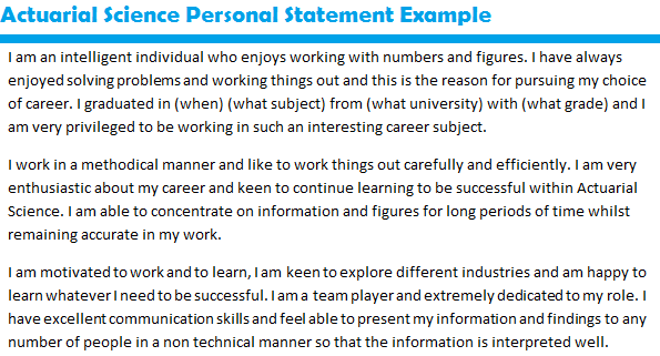 resume personal statement sample