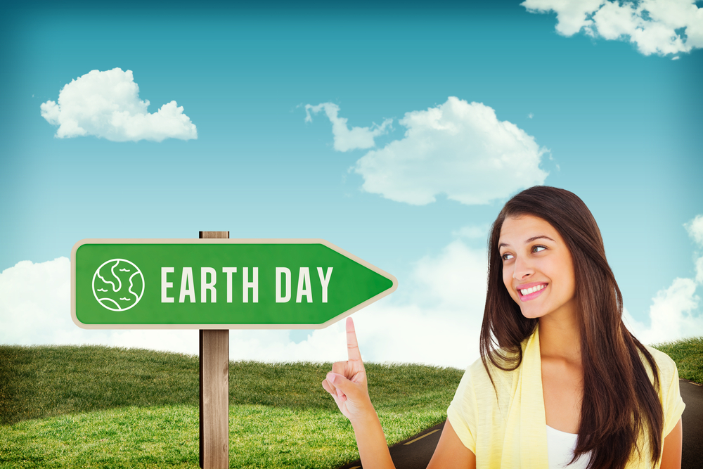 A woman reminds you to consider how your weight impacts the Earth on Earth Day.