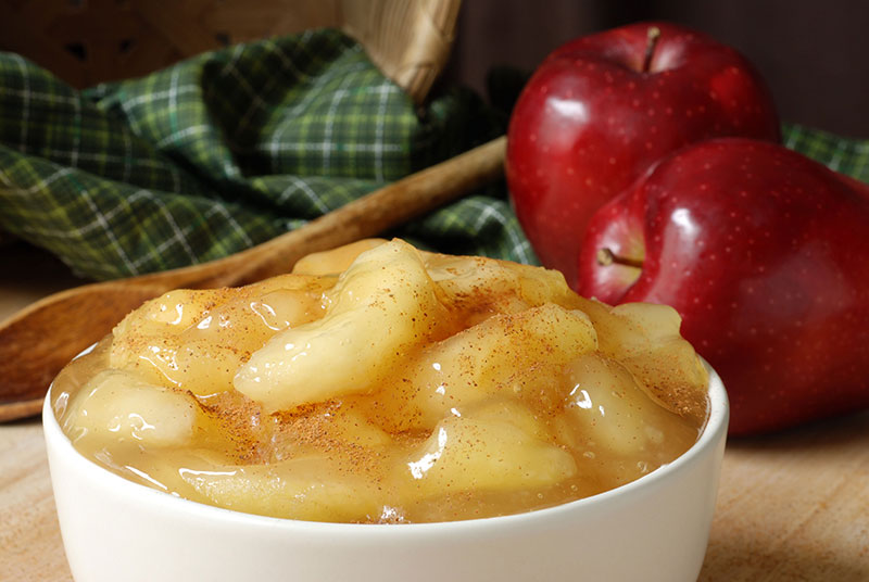 Here's a solution for when you are craving something sweet on a low-carb diet: sugar-free apple pie without the crust!