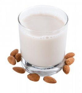 A glass of vanilla almond milk might not be a healthy choice.