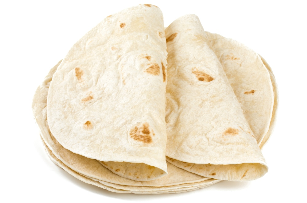 A large flour tortilla can blow you out of the fat-burning zone; Personal Trainer Food can help you burn more fat with healthy food replacements.