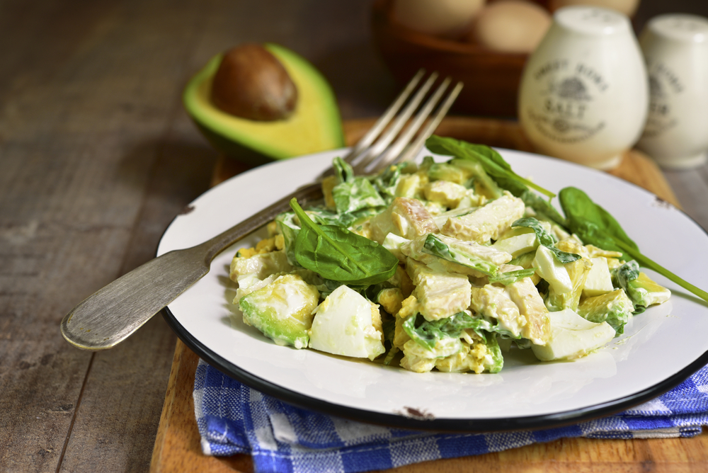 Avocado and egg salad will fill you up with healthy fats that are important for brain function.