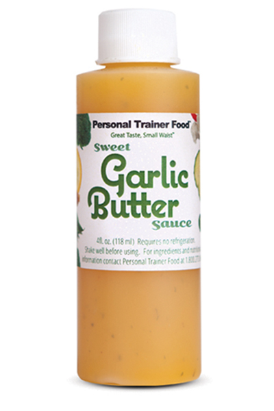 Pin this: Every order of delicious weight loss meals from Personal Trainer Food comes with Sweet Garlic Butter sauce (that everyone loves), we also offer sweet Bacon and White Cheddar, Sriracha Butter Sauce, and Cinnamon Explosion Butter Sauce. Totally amazing low-carb sauces you can use to lose 10-20 or more pounds fast.
