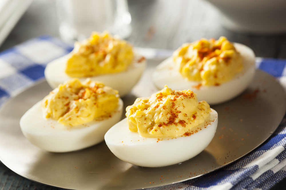 Get some great new low-carb recipes that are high in good fats and protein like these deviled eggs from Personal Trainer Food.