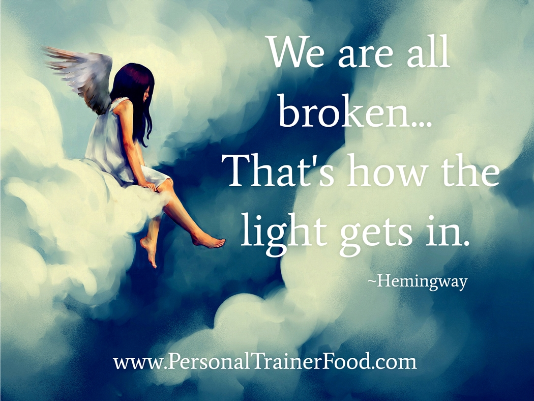 Open yourself up to your own light which is created by being your best, most authentic self with Personal Trainer Food (the no-diet diet solution that let's you live your life).