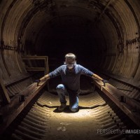 Where the Air is Still - Self portrait inside a Titan 1 Missile Silo