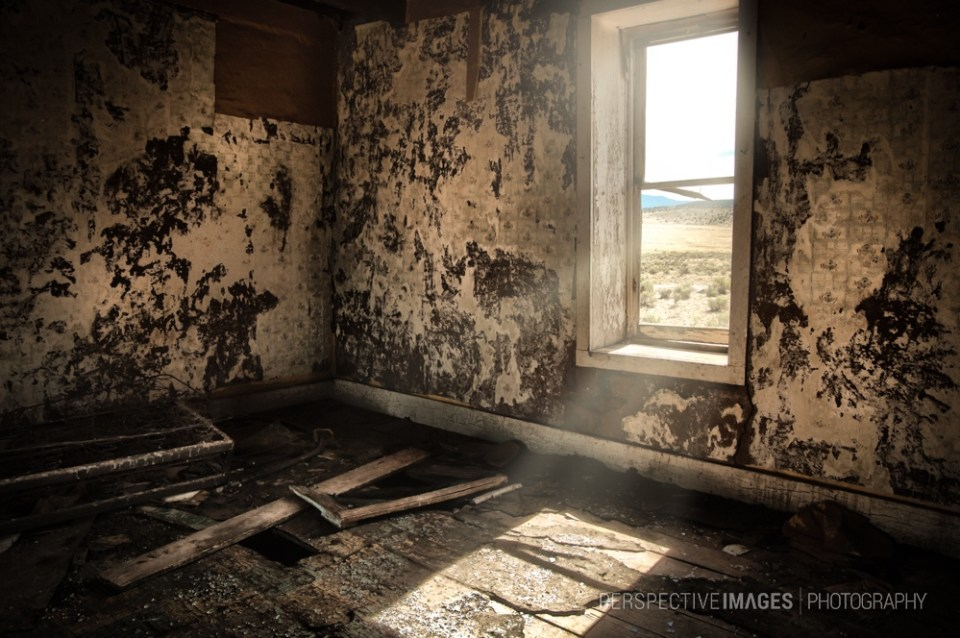 Scorched Earth - Abandoned ranch workers house on the plains of St. Augustine in New Mexico's desert.