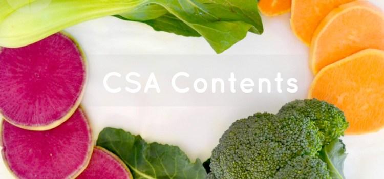 CSA Box Contents (#11)
